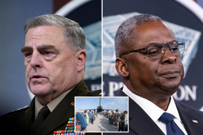Ex-military officers call for Austin, Milley to resign