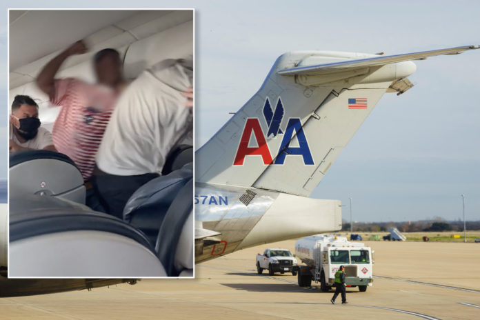Stuck seat led to fight on American Airlines flight: witness