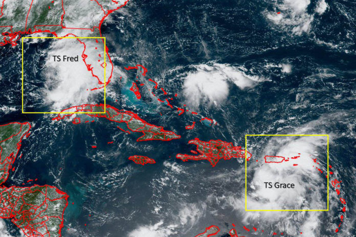 Fred strengthens slightly as it heads to US coast