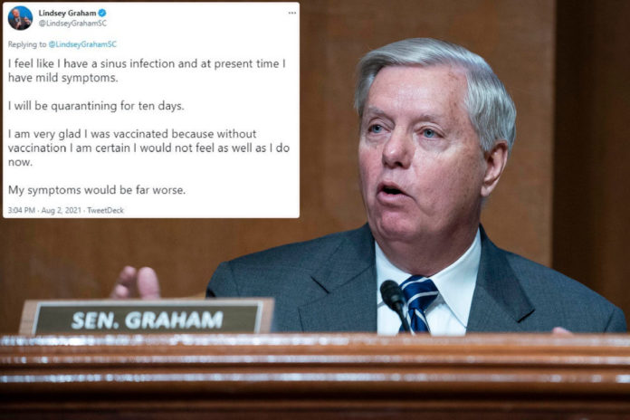 Lindsey Graham comes down with COVID-19, says he's 'very glad' he was vaccinated