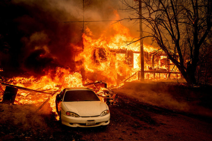 California wildfire burns town of Greenville to ashes