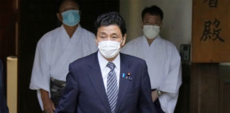 Japanese defense chief visits contentious war shrine