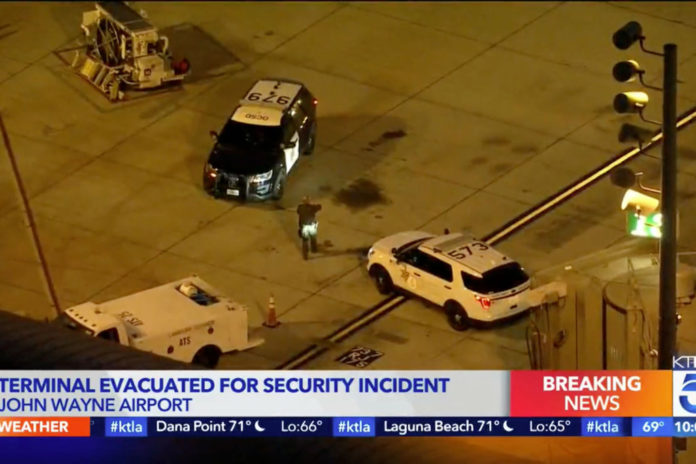 John Wayne Airport locked down after man breaches security, hides in ceiling