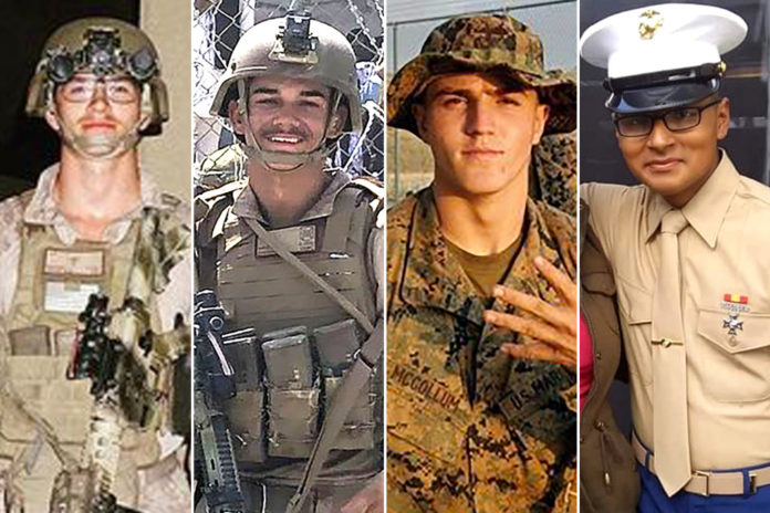 These are the US service members killed in Kabul airport attack
