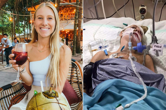Blogger Kaitlyn McCaffery left in coma after scooter crash in Bali