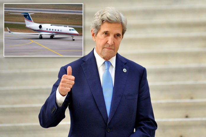 John Kerry's private family jet took 16 trips this year alone