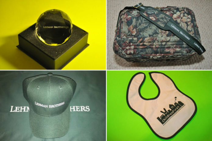 Here's your chance to own 'authentic' Lehman Brothers swag