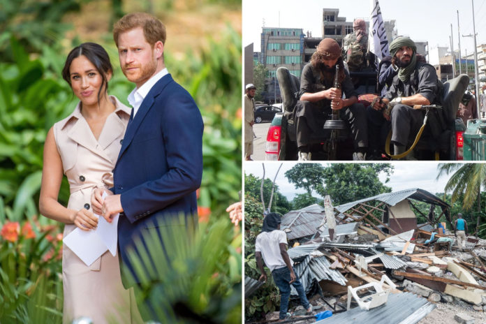 Prince Harry, Meghan Markle 'speechless' over Taliban takeover