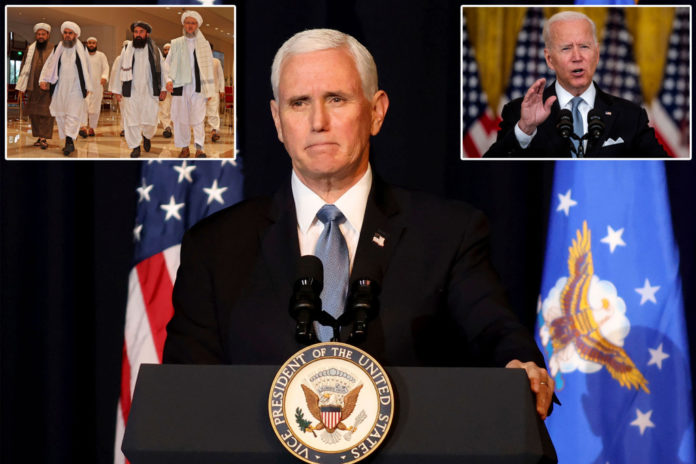 Pence claims Biden broke Trump administration's deal with Taliban
