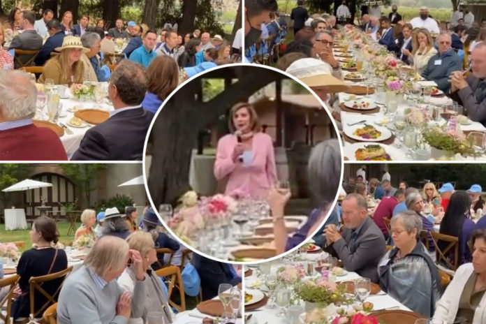Video shows hoards of maskless people at Pelosi fundraiser