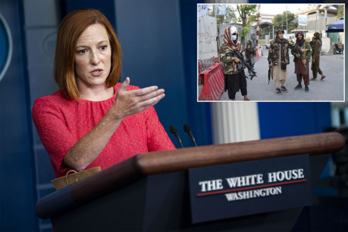 Jen Psaki defends US-Taliban collaboration after deadly Kabul bombing