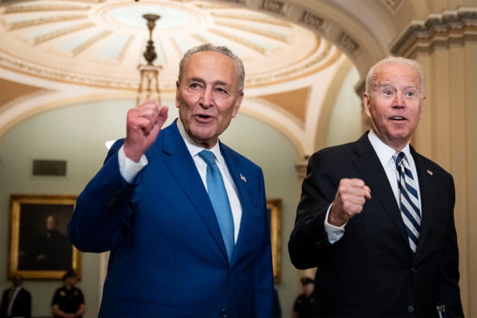 Chuck Schumer aims for weekend vote on $1T infrastructure deal