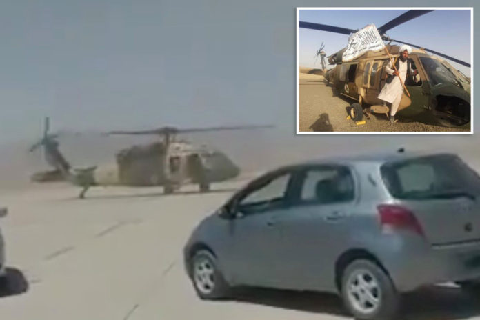 Taliban appear to take joyride in US-made helicopter: video