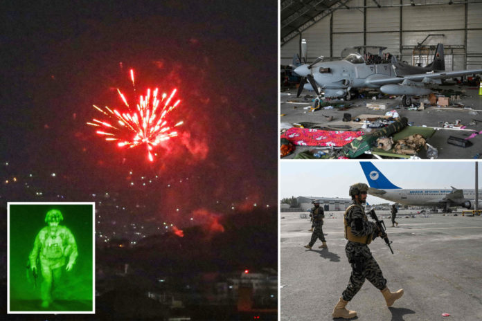 Fireworks erupt in Kabul after US withdraws from Afghanistan