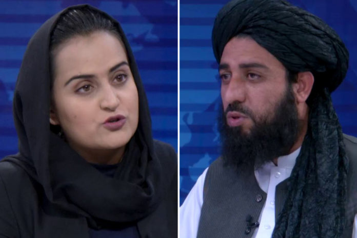 Female Afghan TV anchor makes headlines with interview of Taliban official