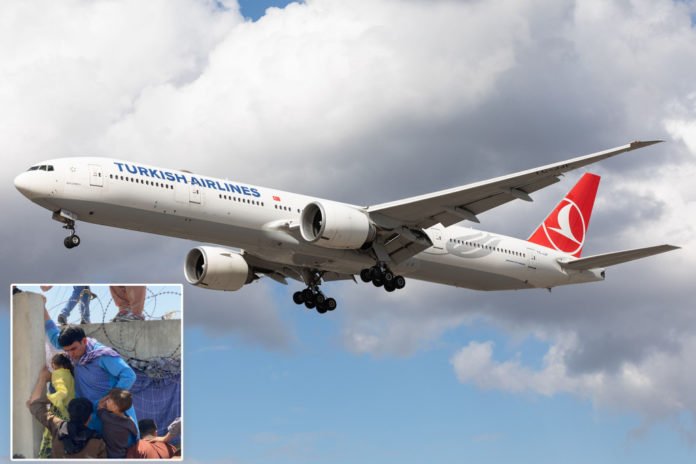 Turkish Airlines jet flies to Kabul, Afghanistan amid chaos