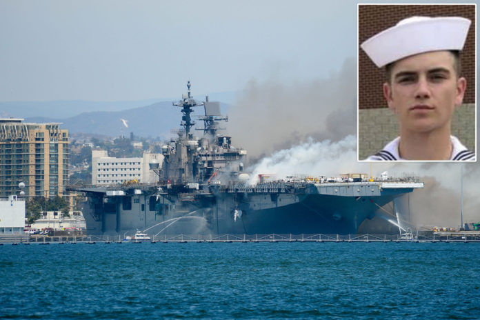 SEAL training dropout Ryan Mays accused of torching USS Bonhomme Richard