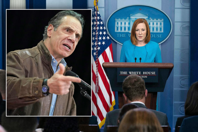 Psaki says Biden will weigh in on Cuomo accusations 'later'