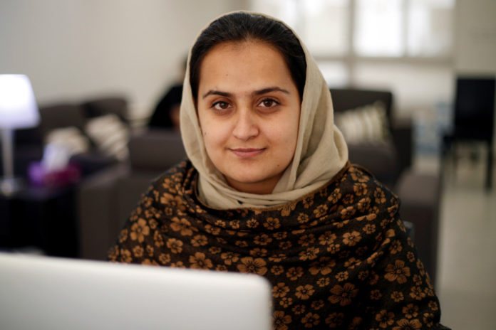 Afghan news anchor made history, then had to leave it behind