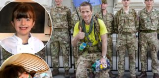 Veteran marches 1,200 miles for daughter's genetic condition