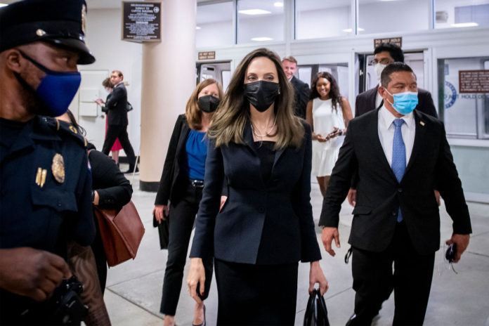 Angelina Jolie visits Capitol Hill for Violence Against Women Act