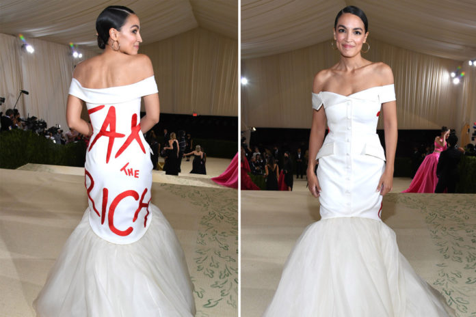 AOC and boyfriend got comped by Met to attend gala