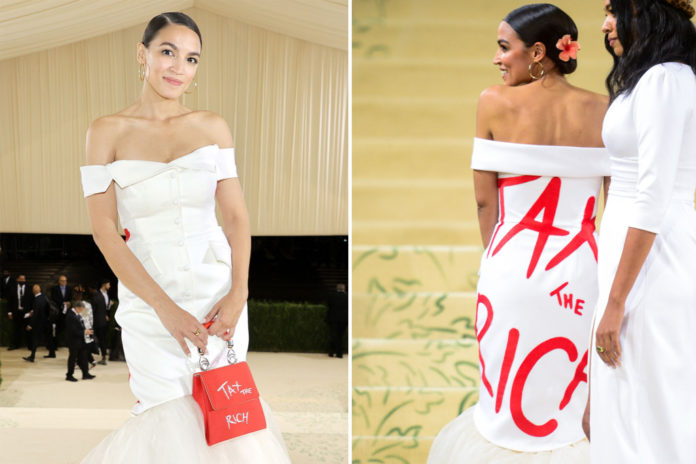 AOC gets ethics complaint for accepting free Met Gala tickets