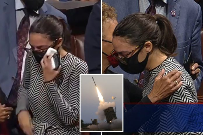 AOC dragged for 'bad theater' after crying over Iron Dome vote