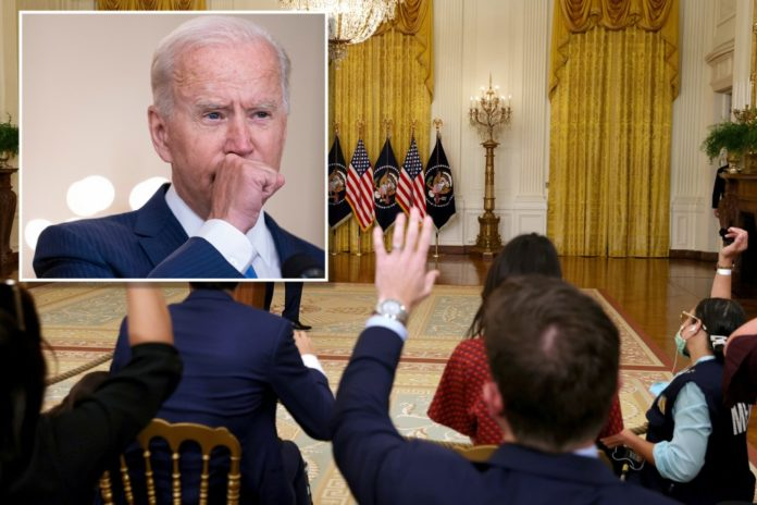 Biden's coughing questioned during White House briefing