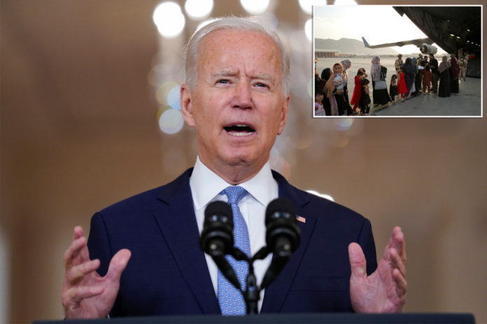 Biden claim '90 percent' of Americans out of Afghanistan edited by White House
