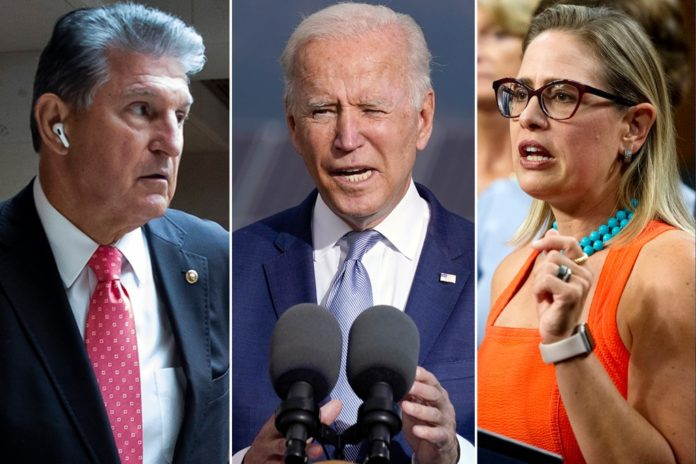 Biden meets with Sinema and Manchin about fate of $3.5T social spending bill