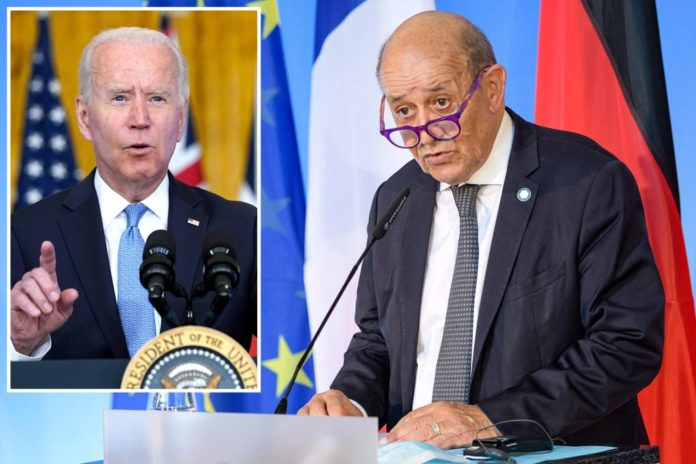 France fuming over Biden snub on US-UK-Aussie sub pact