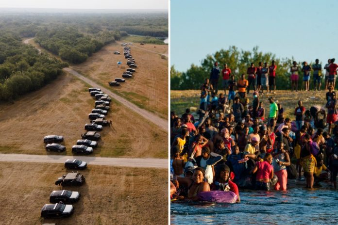 Haitian migrants released as TX scrambles to secure border