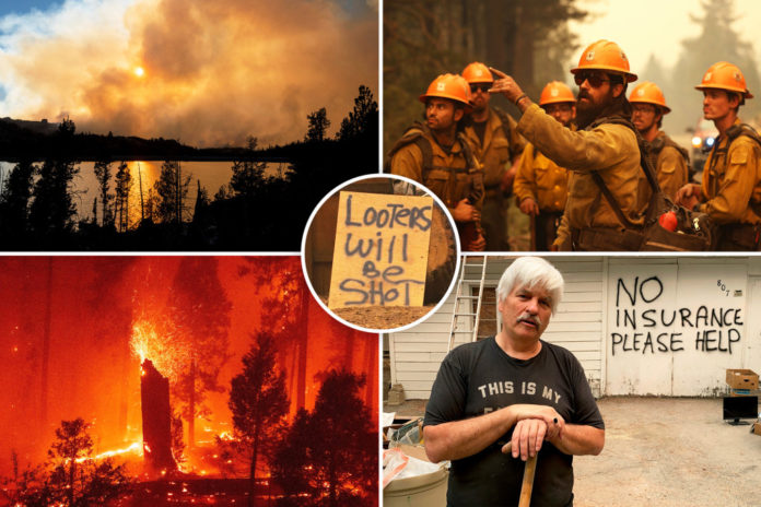 Winds, low humidity push Caldor Fire closer to Lake Tahoe