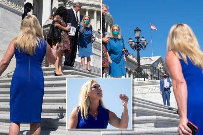 Marjorie Taylor Greene gets in shouting match with Dem lawmakers on Capitol steps