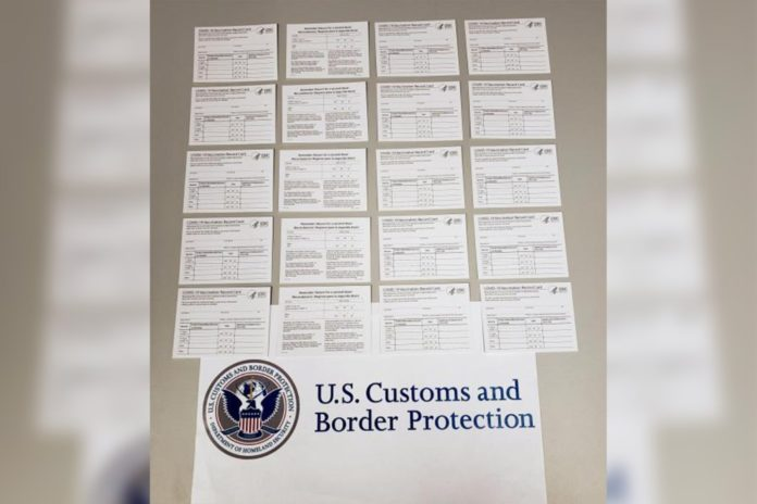 US authorities seize fake COVID vaccine cards from China