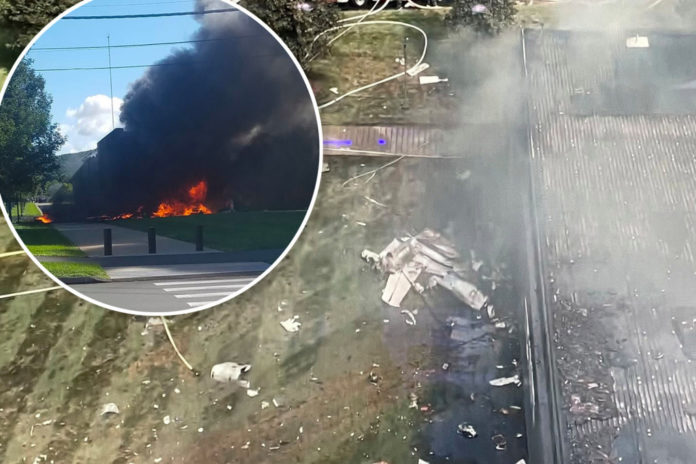 Jet with 4 aboard crashes into building after takeoff in Connecticut