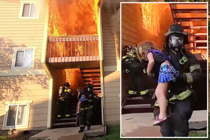 Wichita firefighter rescues girl from burning building