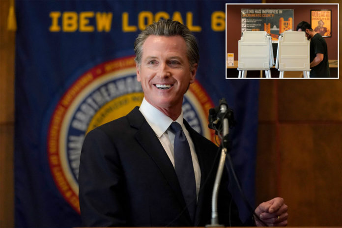 California polls close with Newsom favored to survive in recall vote