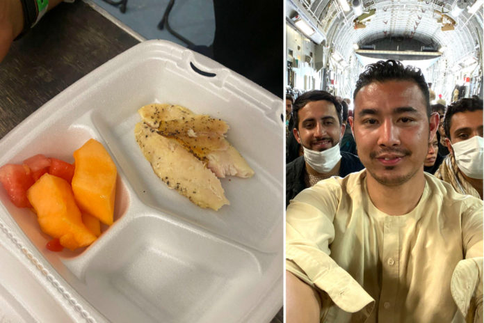 Afghan refugee trolled after sharing photo of Fort Bliss rations