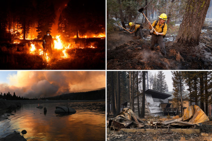 Firefighters make headway against Caldor Fire near Lake Tahoe