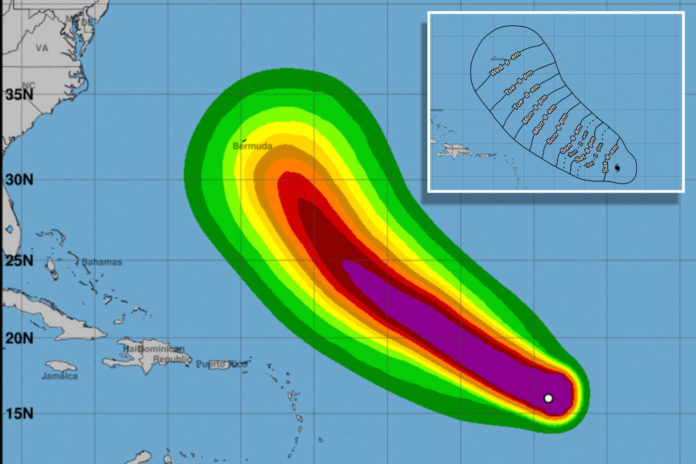 Hurricane Larry strengthens to Category 3 storm