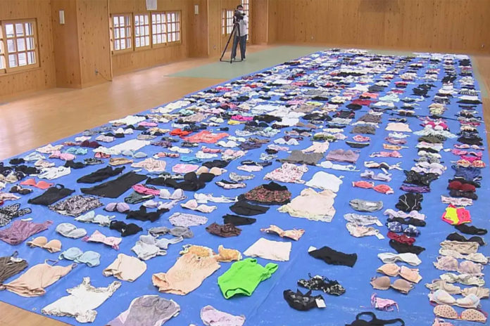 Japanese man busted for stealing 730 pieces of women's underwear