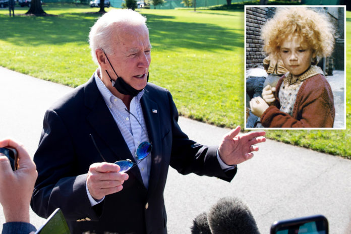 Biden says sun will come out tomorrow as centrists stall bill
