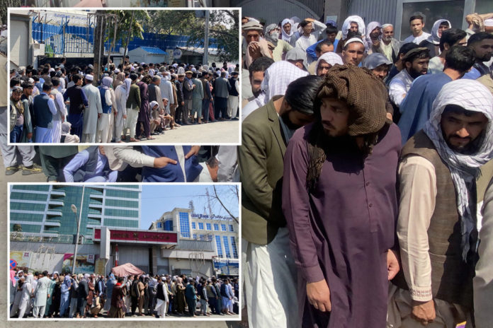 Afghans queue for hours as Taliban imposes $200 weekly withdrawal limit