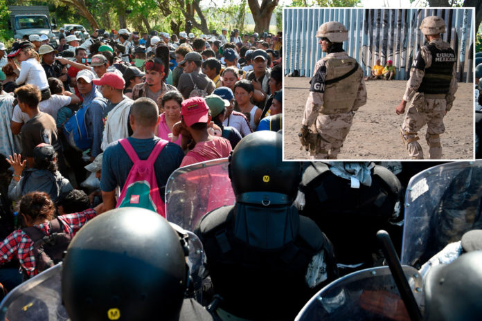 400-strong migrant caravan from Mexico headed for US border
