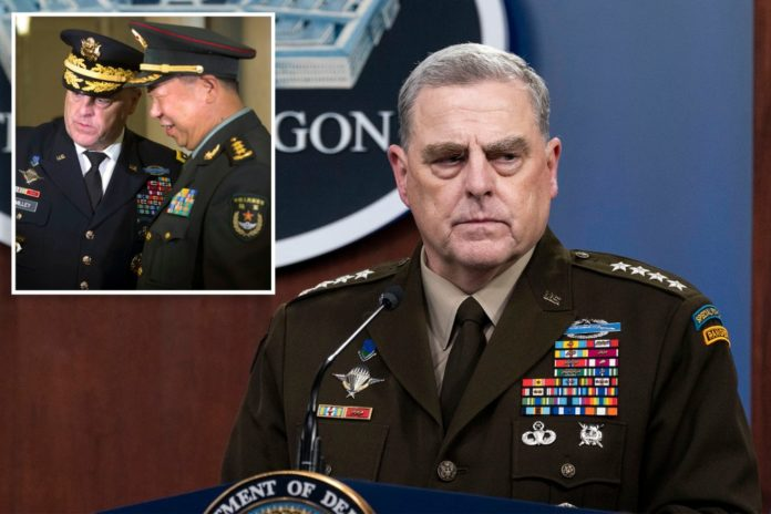Gen. Milley claims China calls 'within' duties of his role