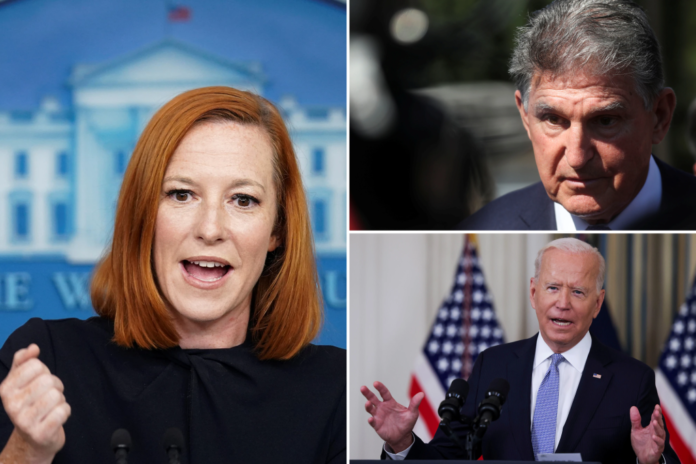 Psaki pressed, 'Who's in charge?' as Manchin, not Biden, steers budget talks