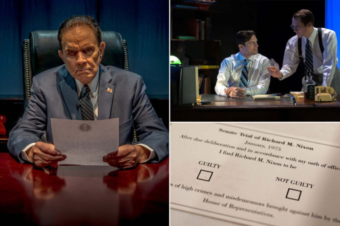 Off-broadway play asks its audience to vote on Nixon's complicity in Watergate