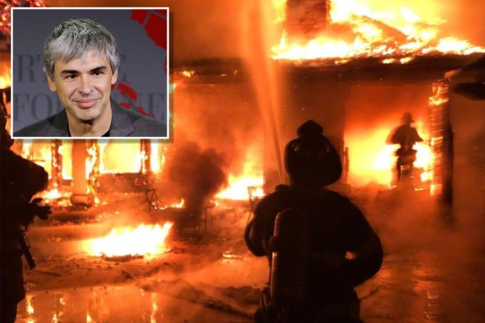 'Secret office' mansion owned by Larry Page burns down